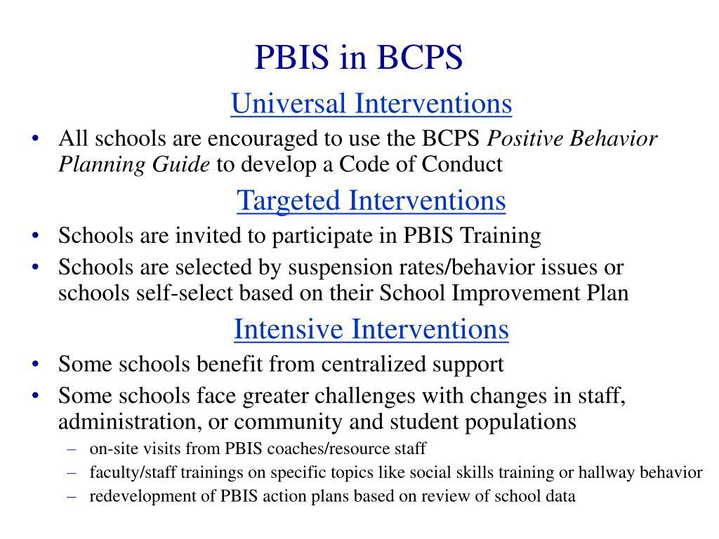 PBIS in BCPS