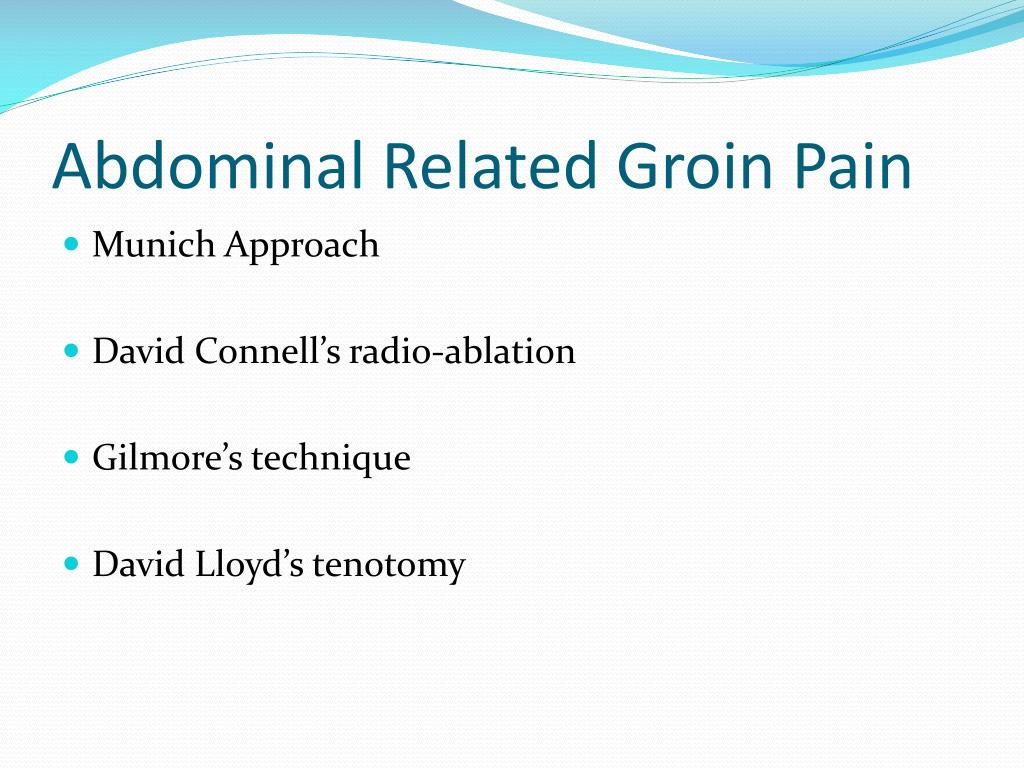 Abdominal Related Groin Pain
