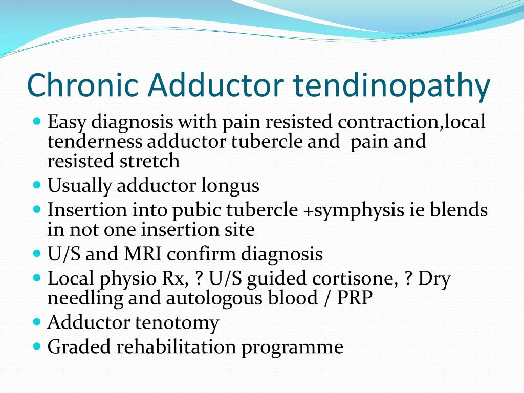 Chronic Adductor tendinopathy