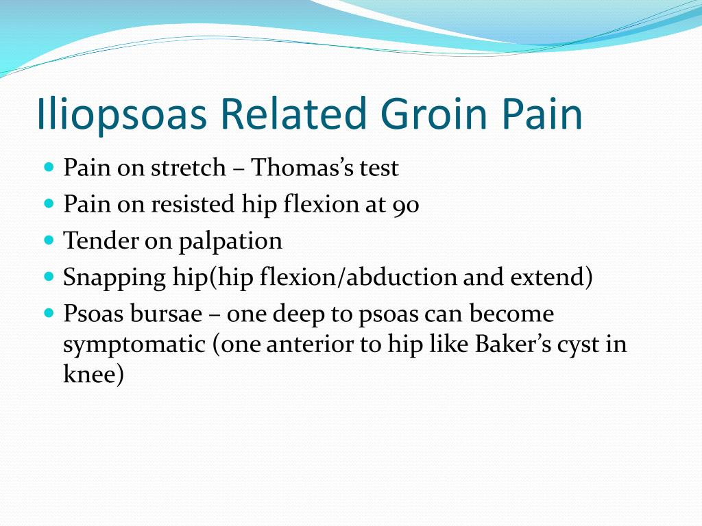 Iliopsoas Related Groin Pain