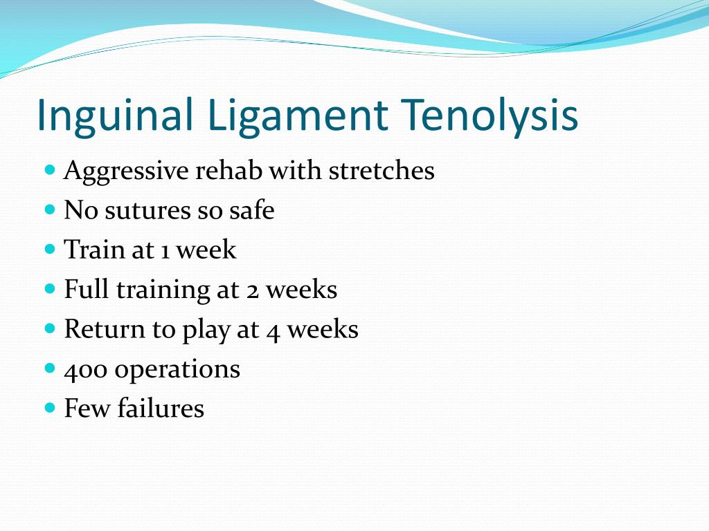 Inguinal Ligament Tenolysis