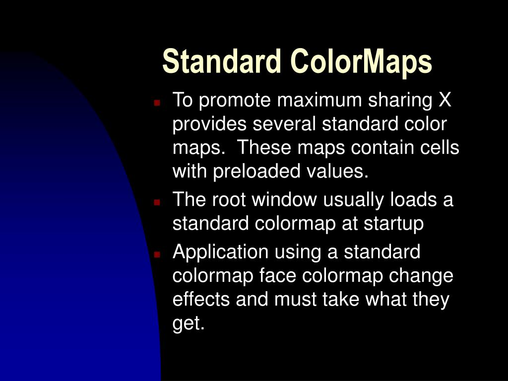 Standard ColorMaps
