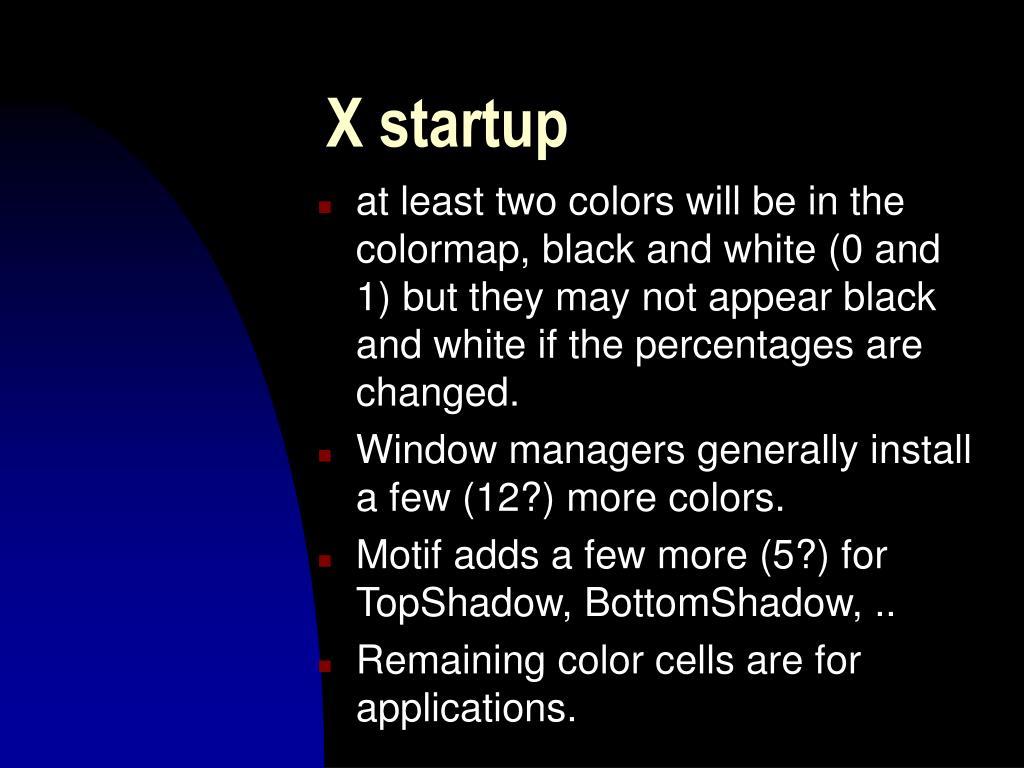 X startup