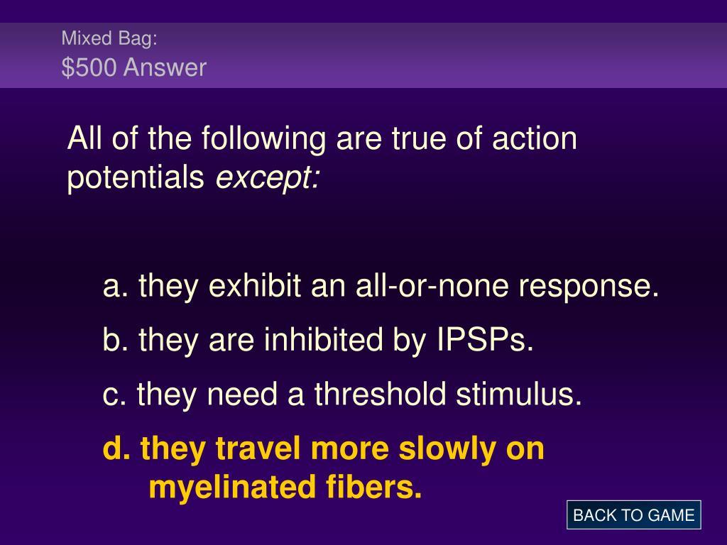 Mixed Bag: