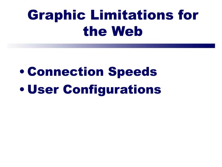 Graphic Limitations for the Web