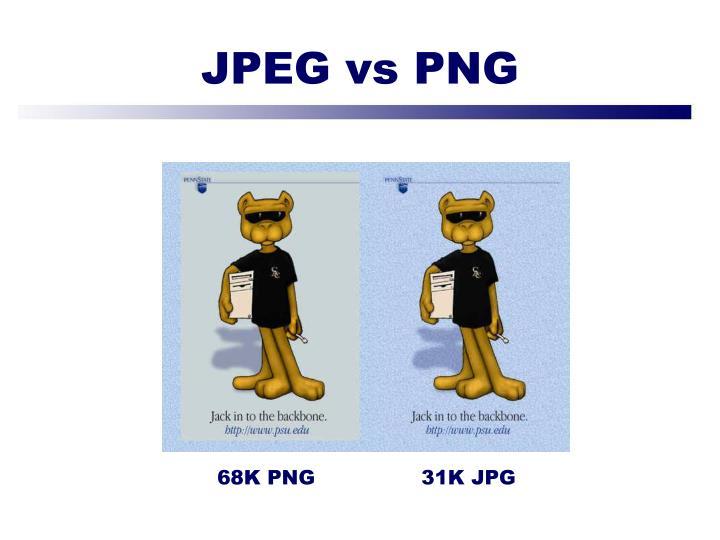 JPEG vs PNG