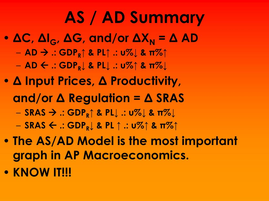 AS / AD Summary