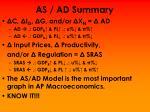 as ad summary