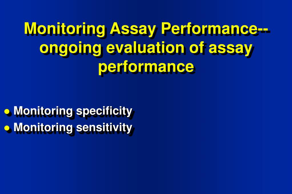 Monitoring Assay Performance--