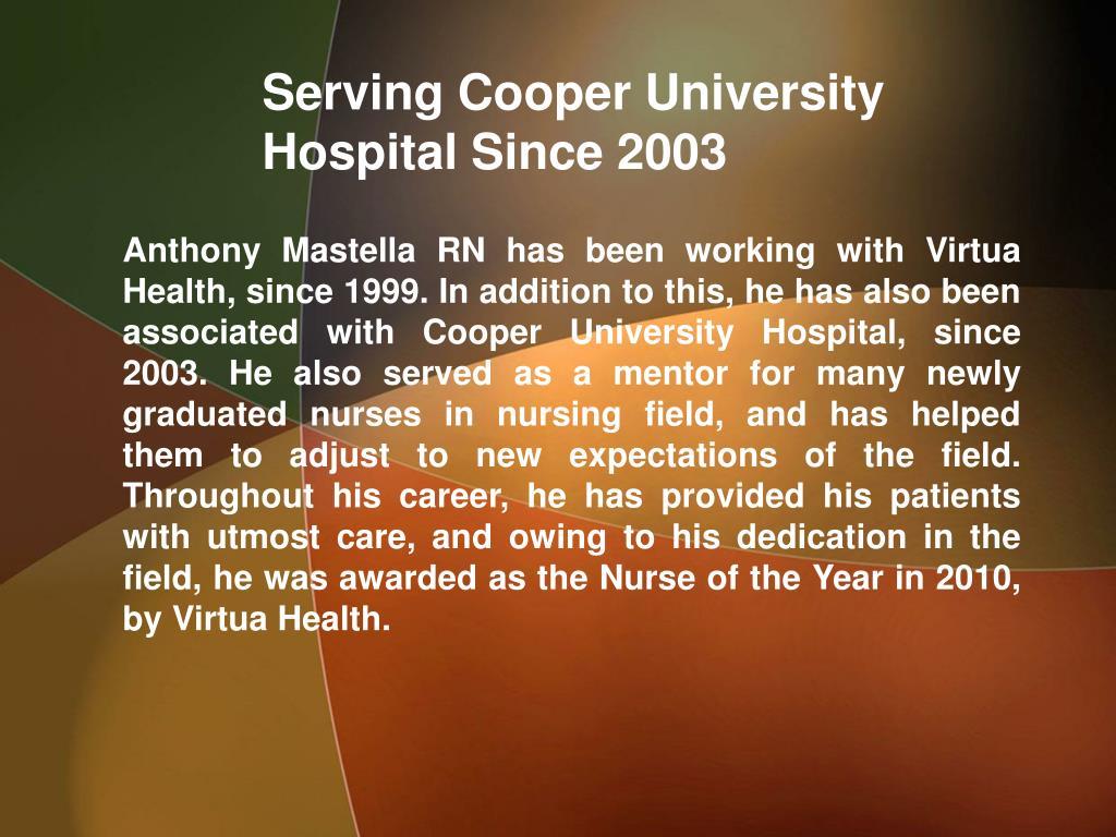 Serving Cooper University Hospital Since 2003