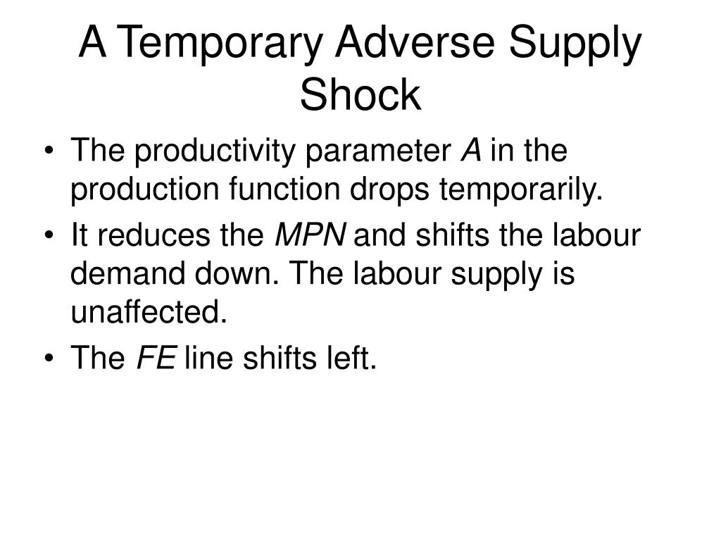 A Temporary Adverse Supply Shock