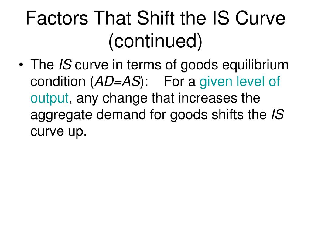 Factors That Shift the IS Curve (continued)