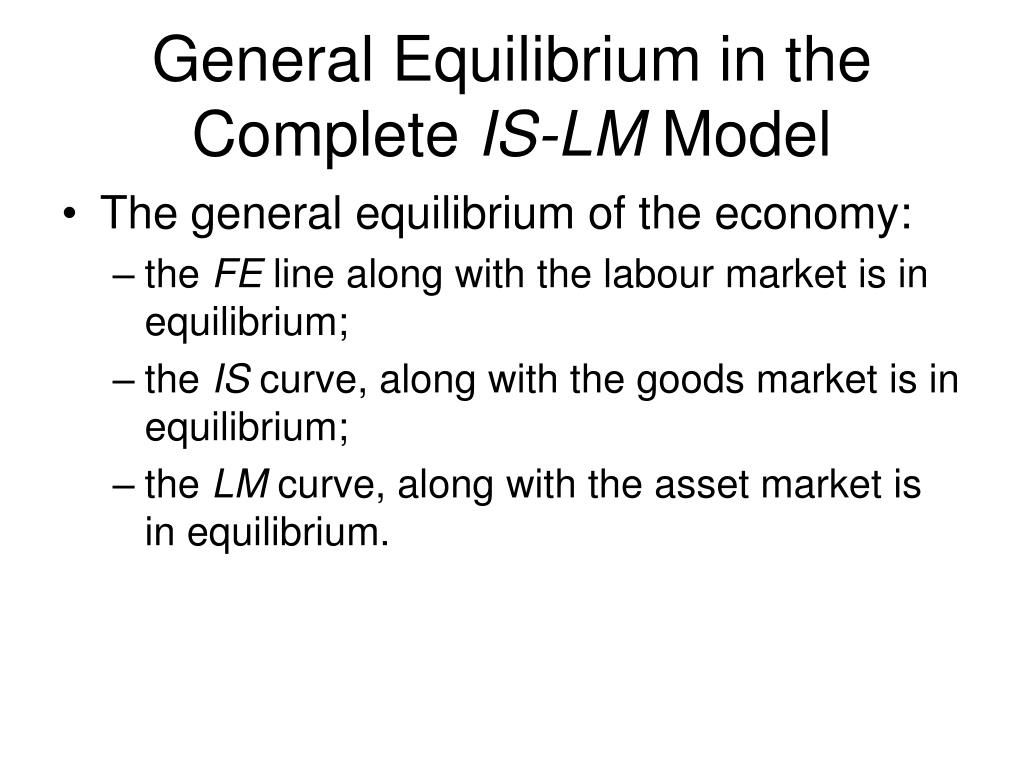 General Equilibrium in the Complete