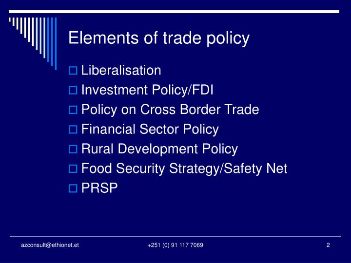 Elements of trade policy