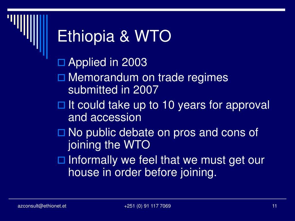 Ethiopia & WTO
