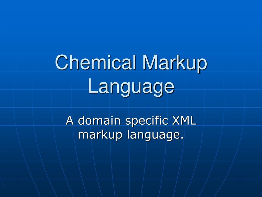 Chemical Markup Language