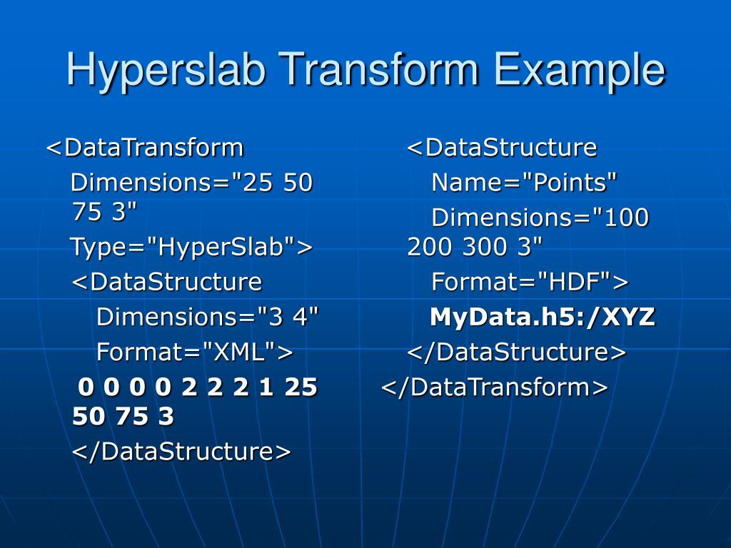 <DataTransform