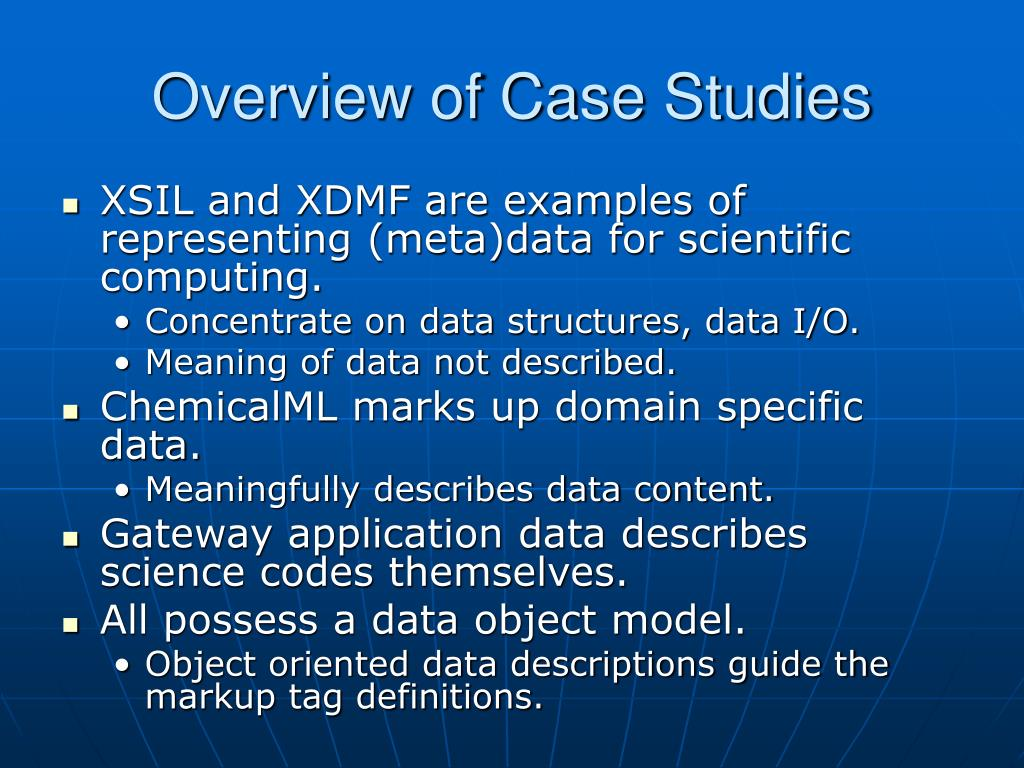 Overview of Case Studies