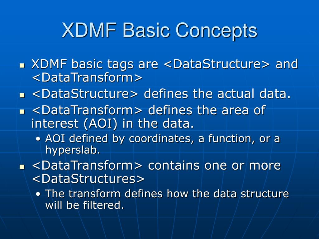 XDMF Basic Concepts