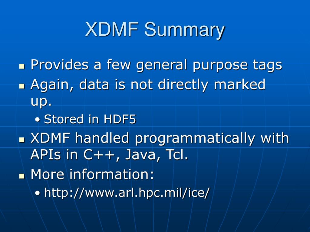 XDMF Summary