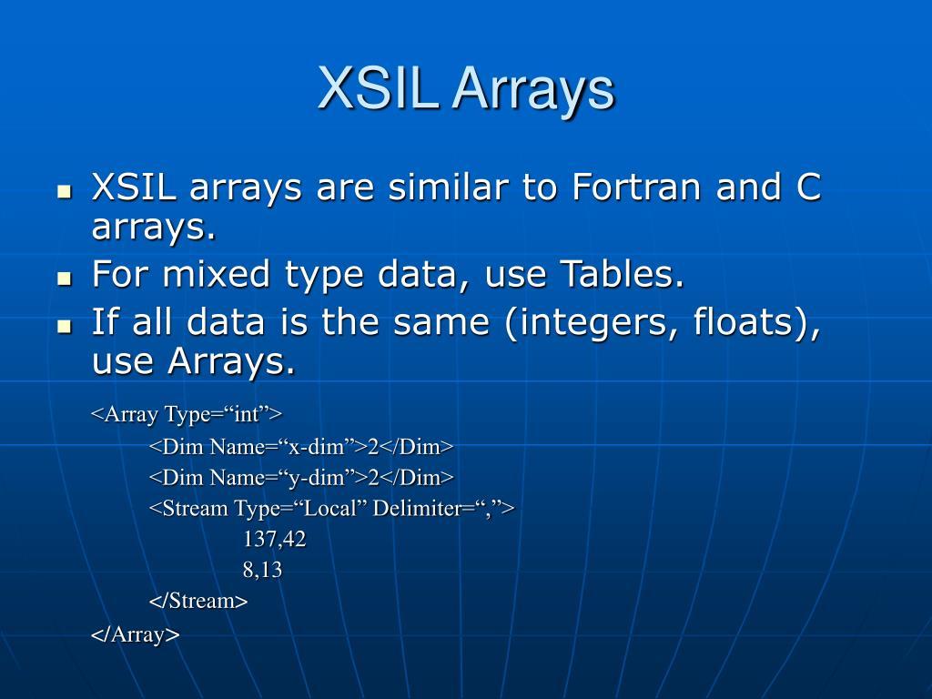 XSIL Arrays