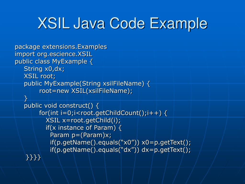 XSIL Java Code Example