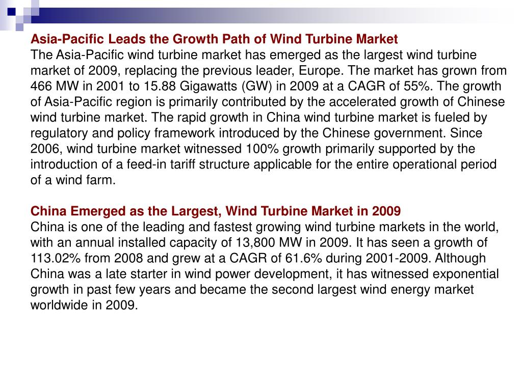 Asia-Pacific Leads the Growth Path of Wind Turbine Market