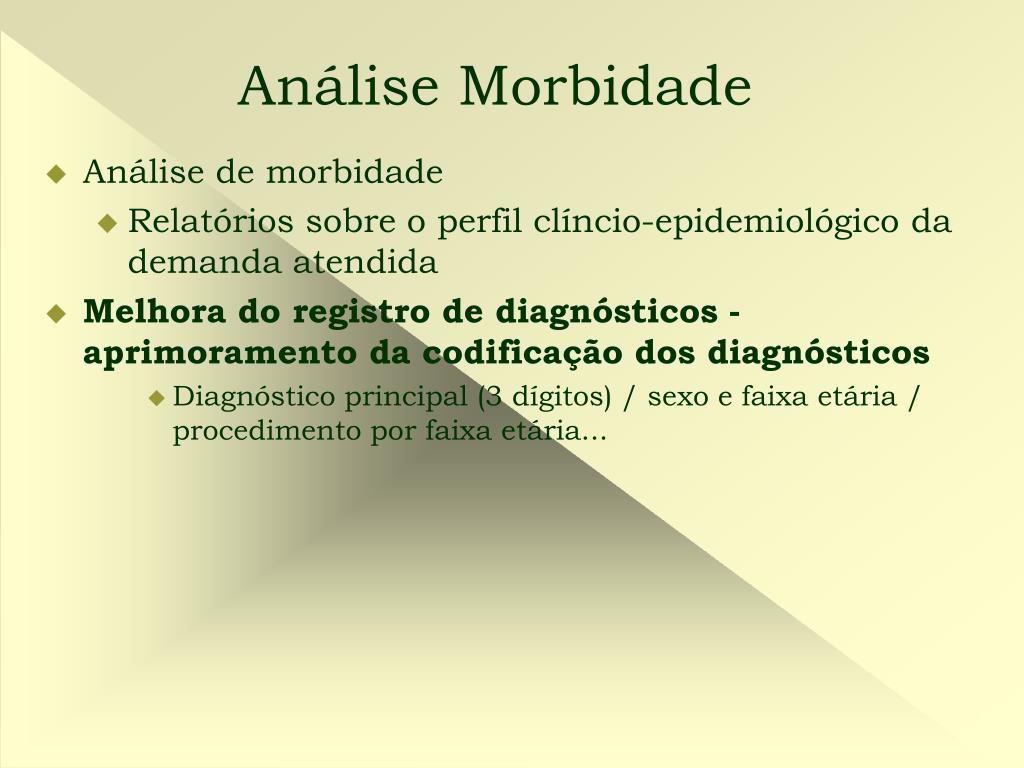 Análise Morbidade