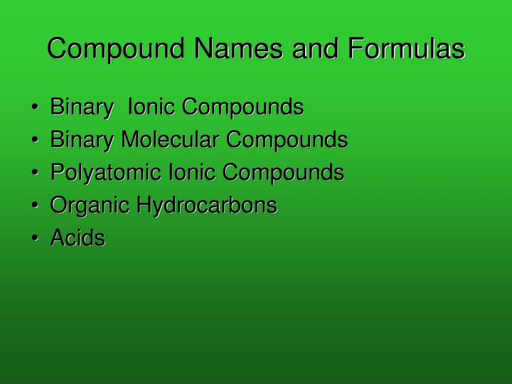 Compound names and formulas l.jpg