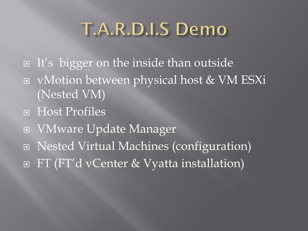T.A.R.D.I.S Demo