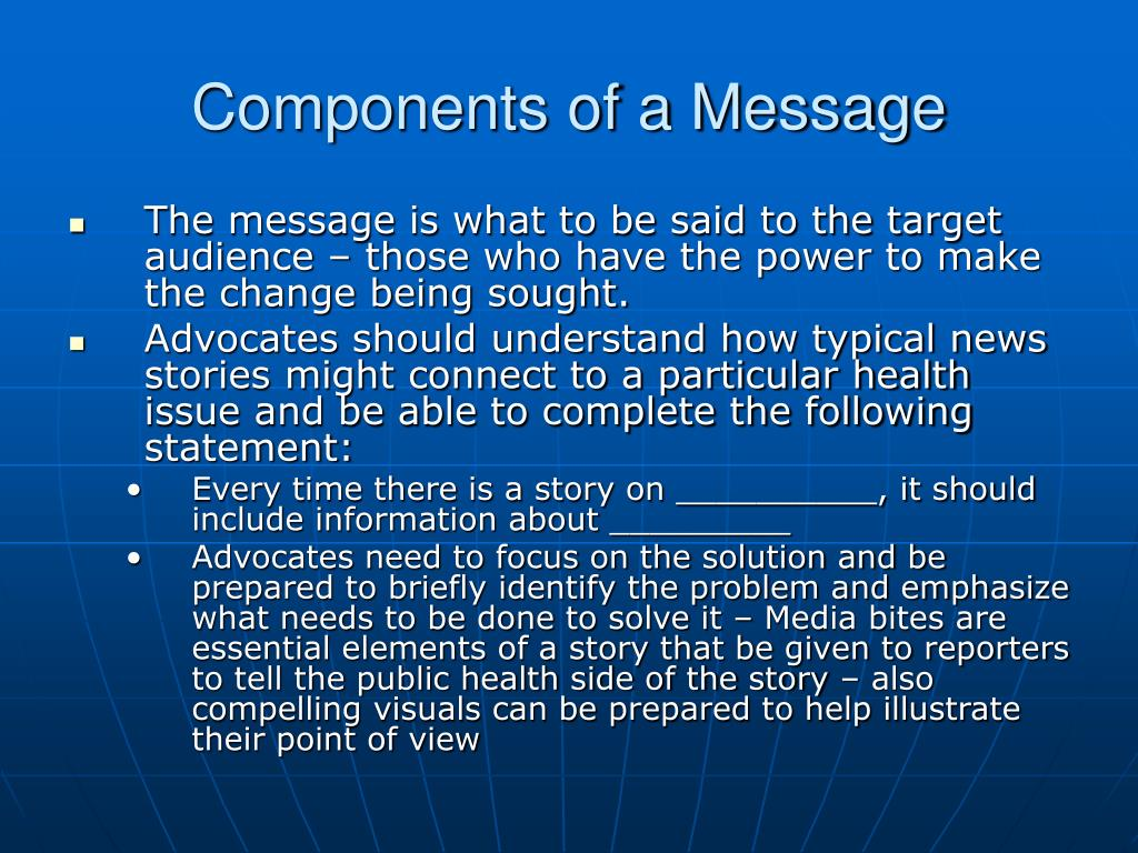 Components of a Message