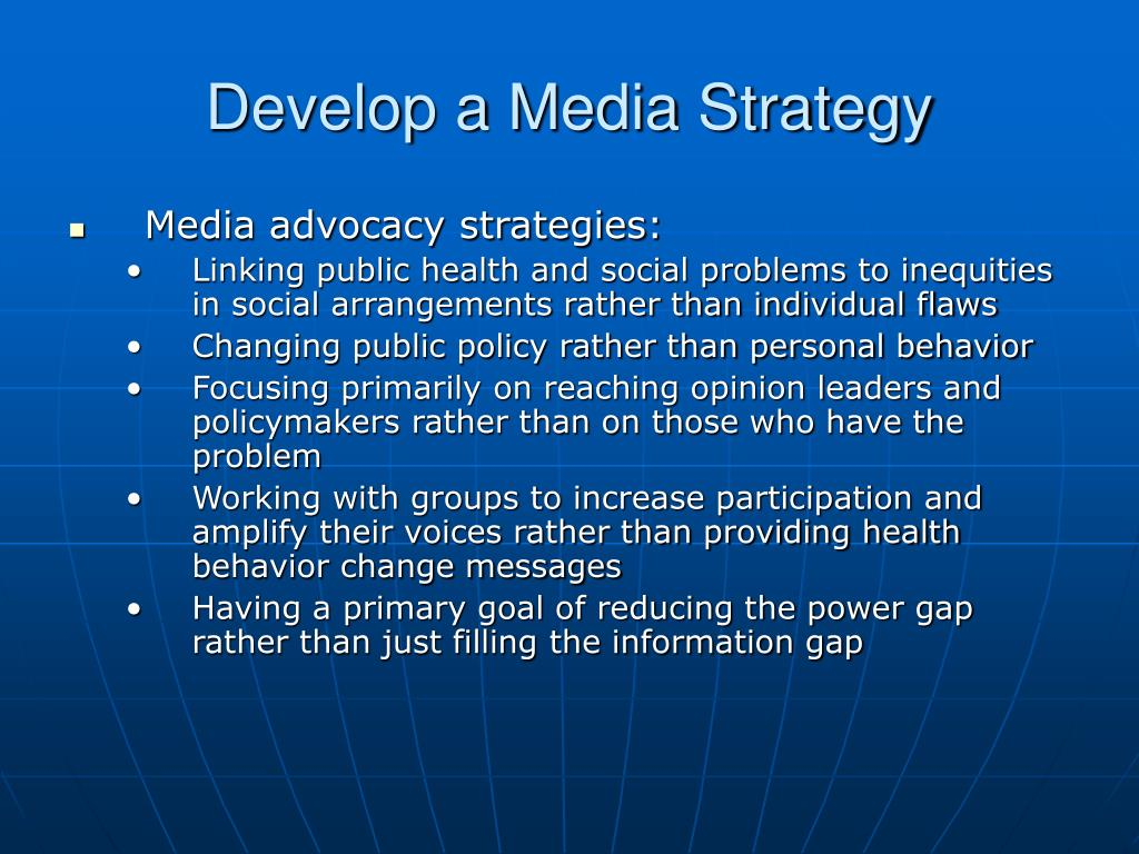 Develop a Media Strategy