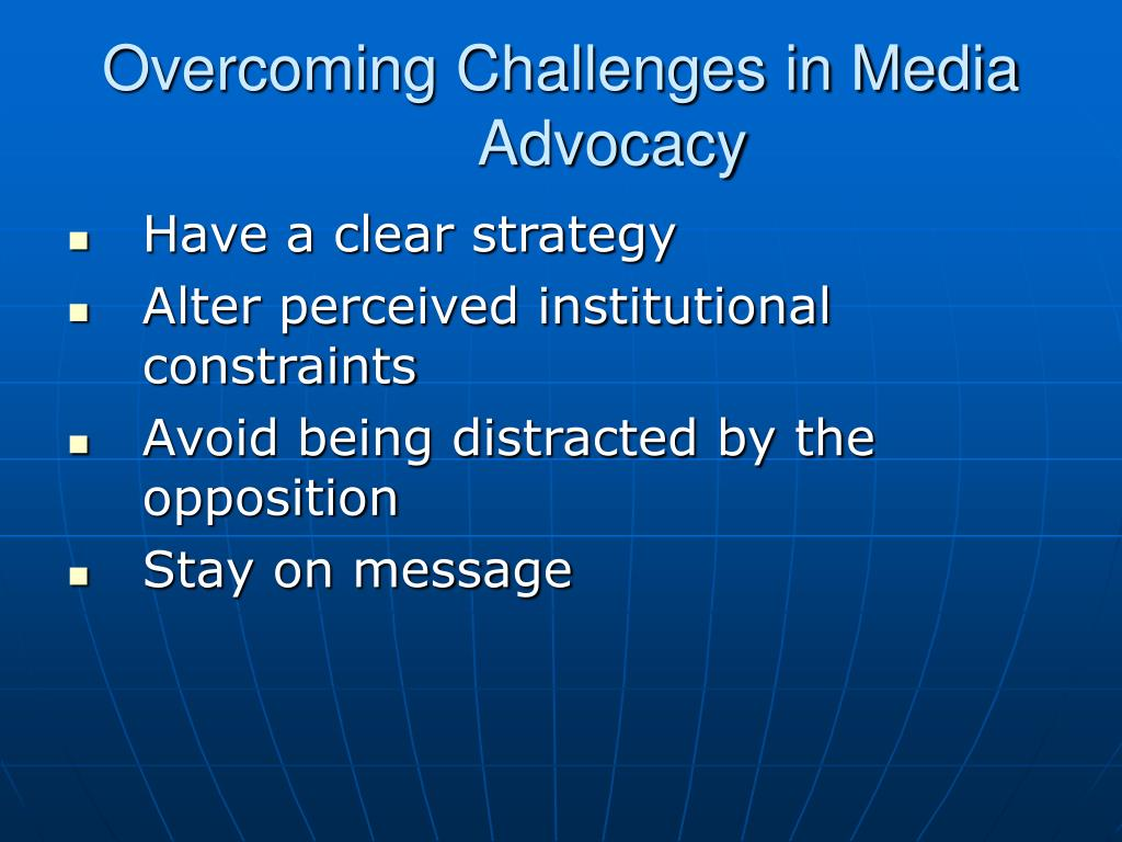 Overcoming Challenges in Media Advocacy