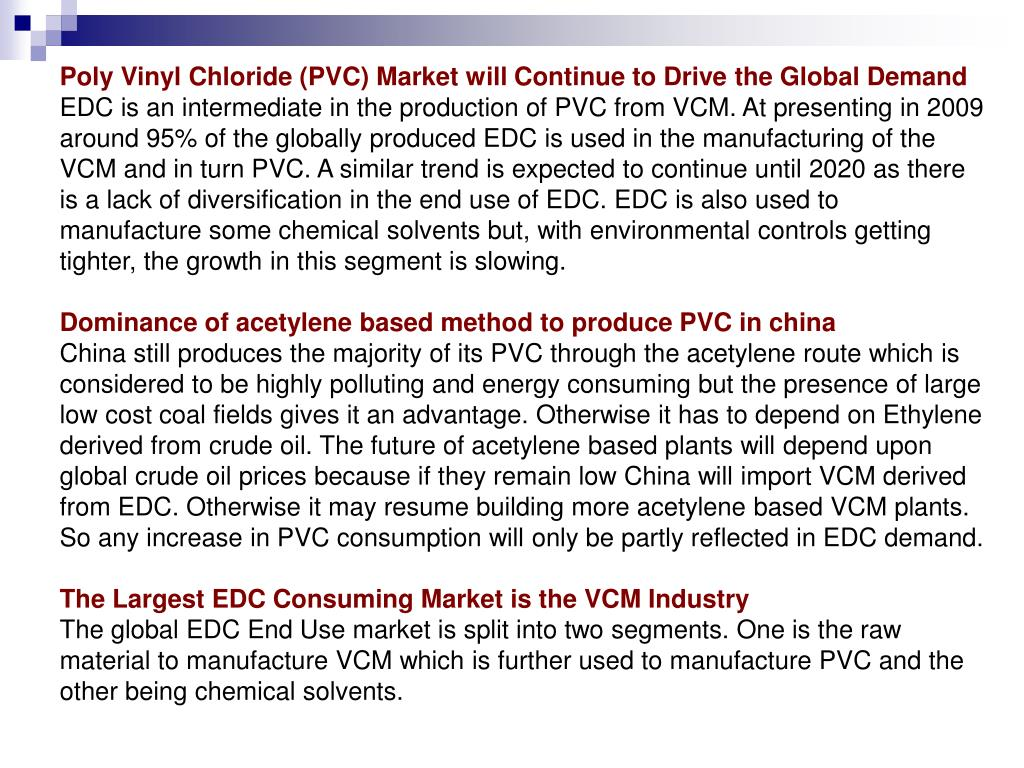 Poly Vinyl Chloride (PVC) Market will Continue to Drive the Global Demand