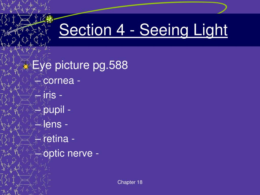 Section 4 - Seeing Light