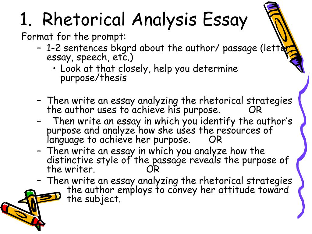 rhetorical essay writing A rhetorical analysis is an examination of how a text persuades us of its point of   is no set form, no five-paragraph standard, for writing essays such as these.