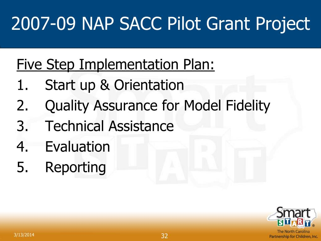 2007-09 NAP SACC Pilot Grant Project