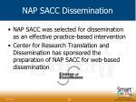 nap sacc dissemination