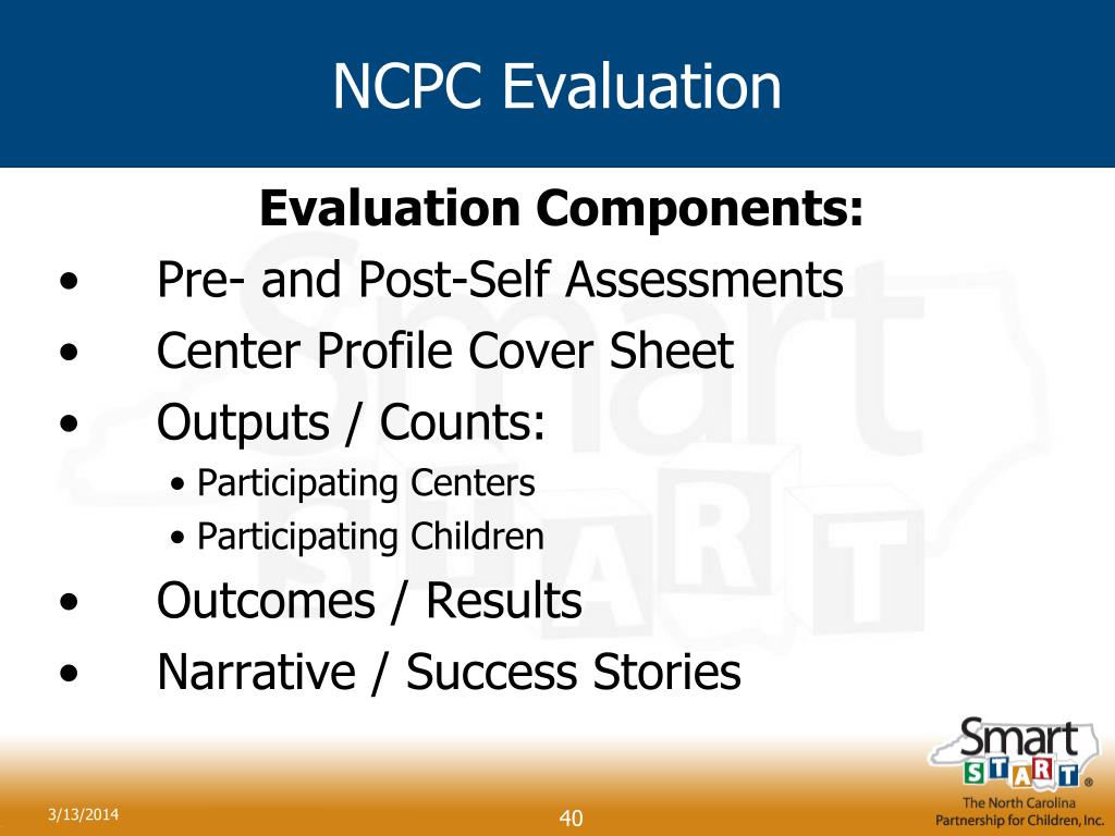 NCPC Evaluation