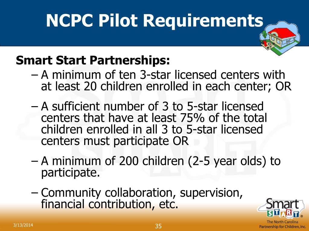 NCPC Pilot Requirements