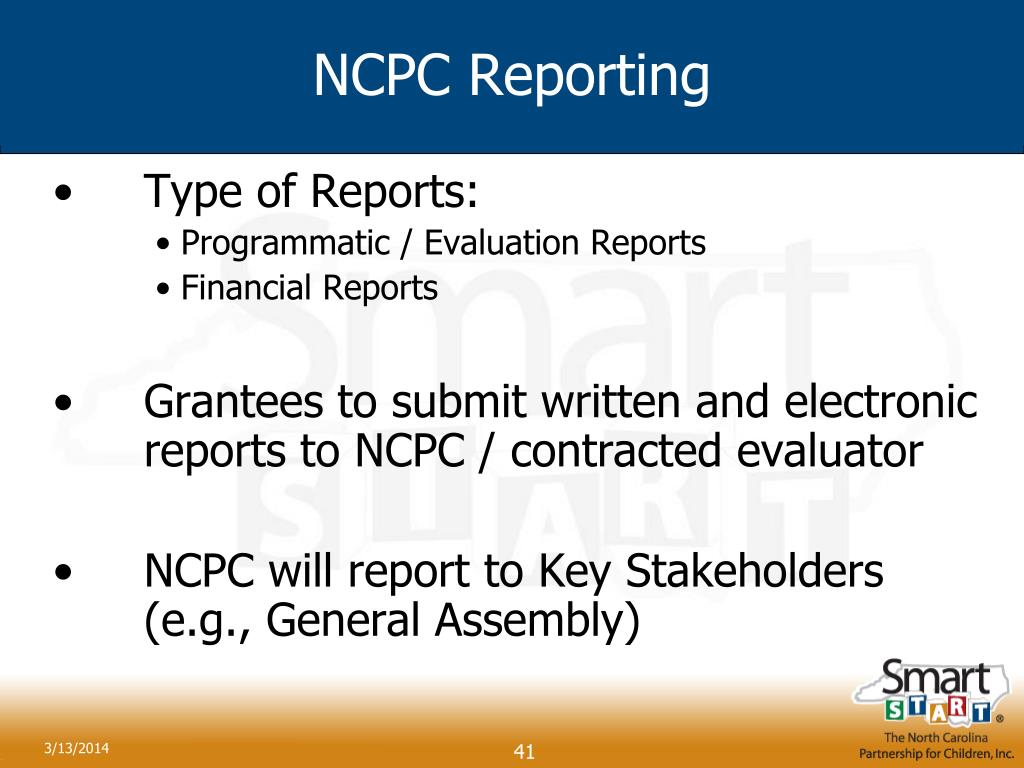 NCPC Reporting