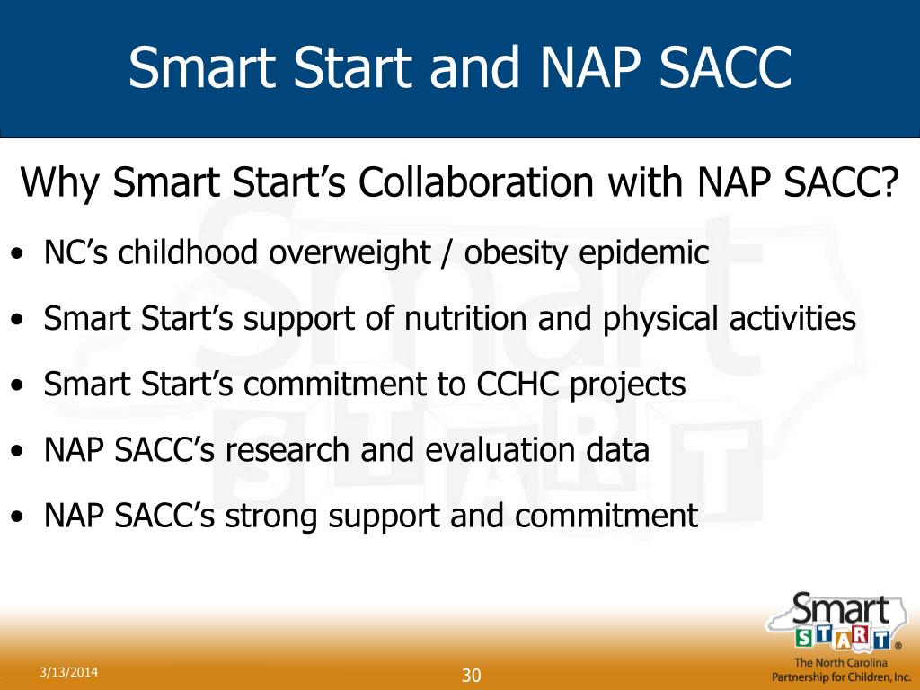 Smart Start and NAP SACC