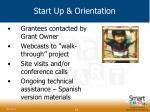 start up orientation