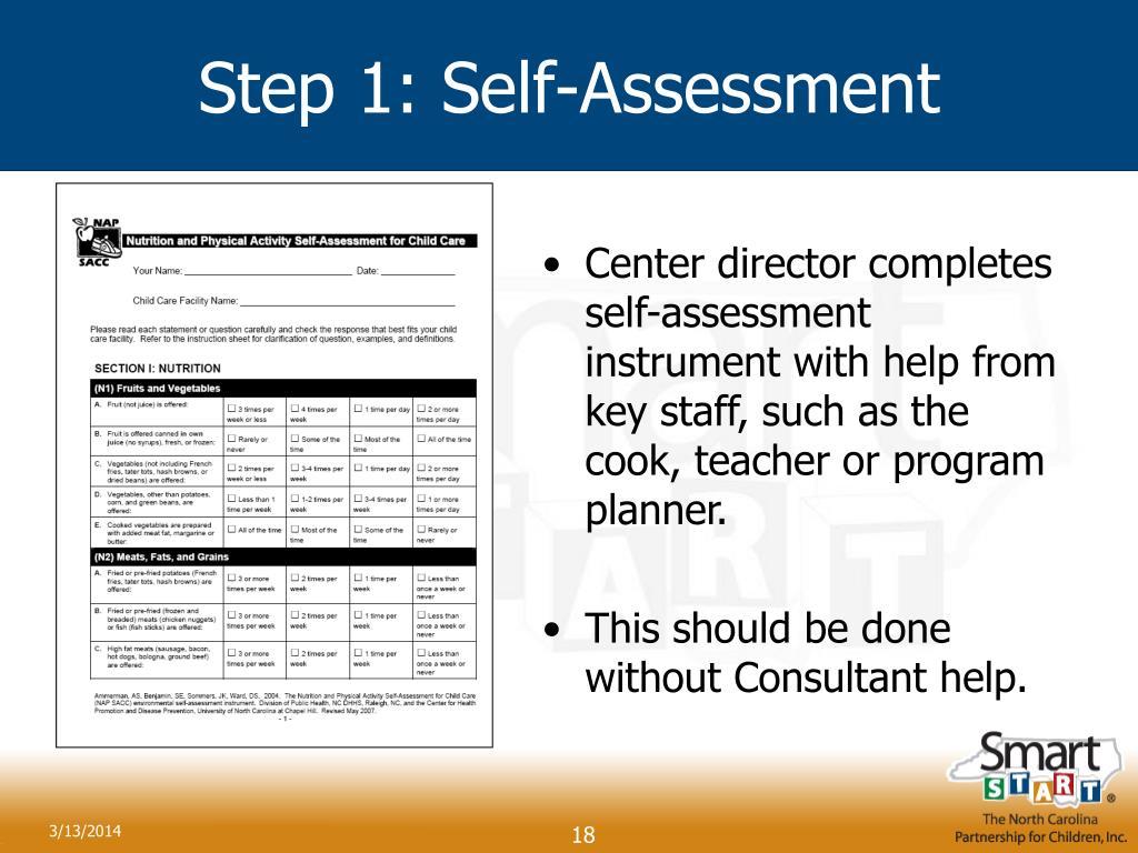Step 1: Self-Assessment