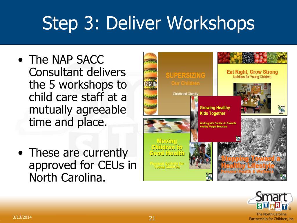 Step 3: Deliver Workshops