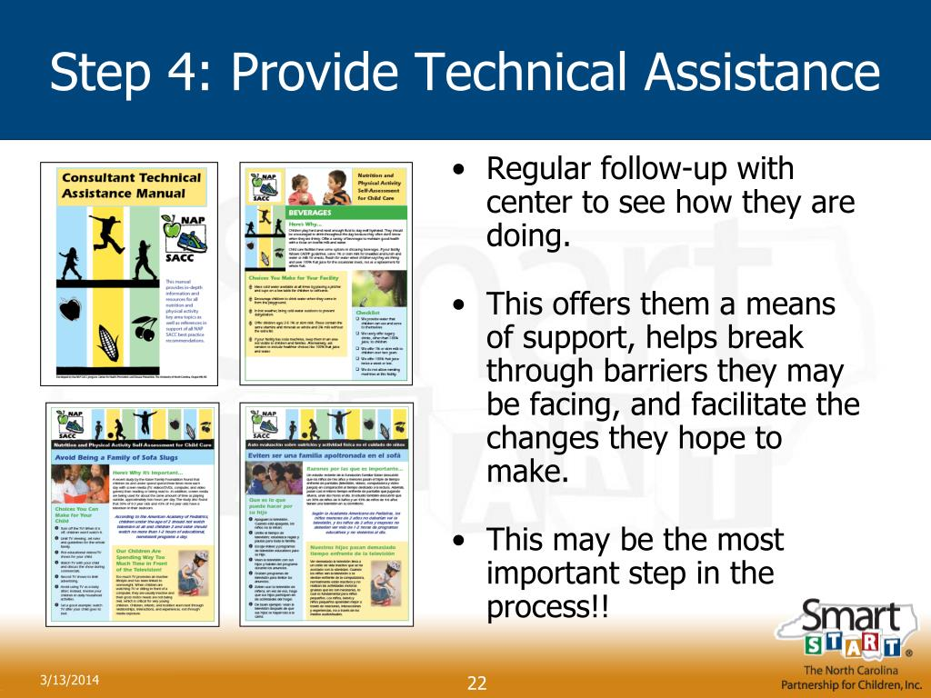 Step 4: Provide Technical Assistance