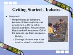 getting started indoors