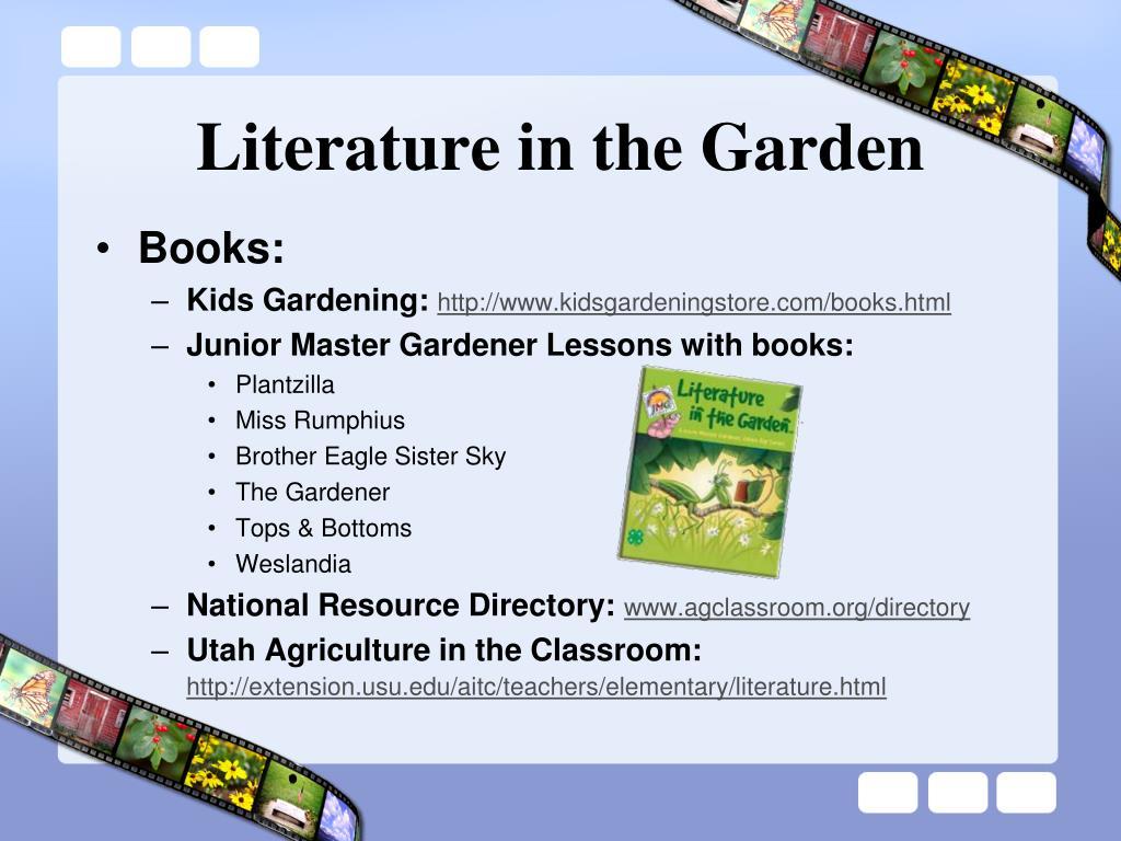 Literature in the Garden