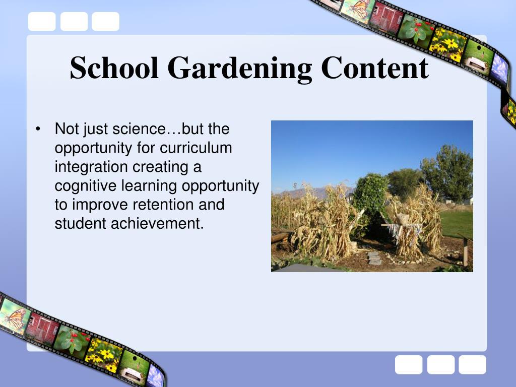 School Gardening Content