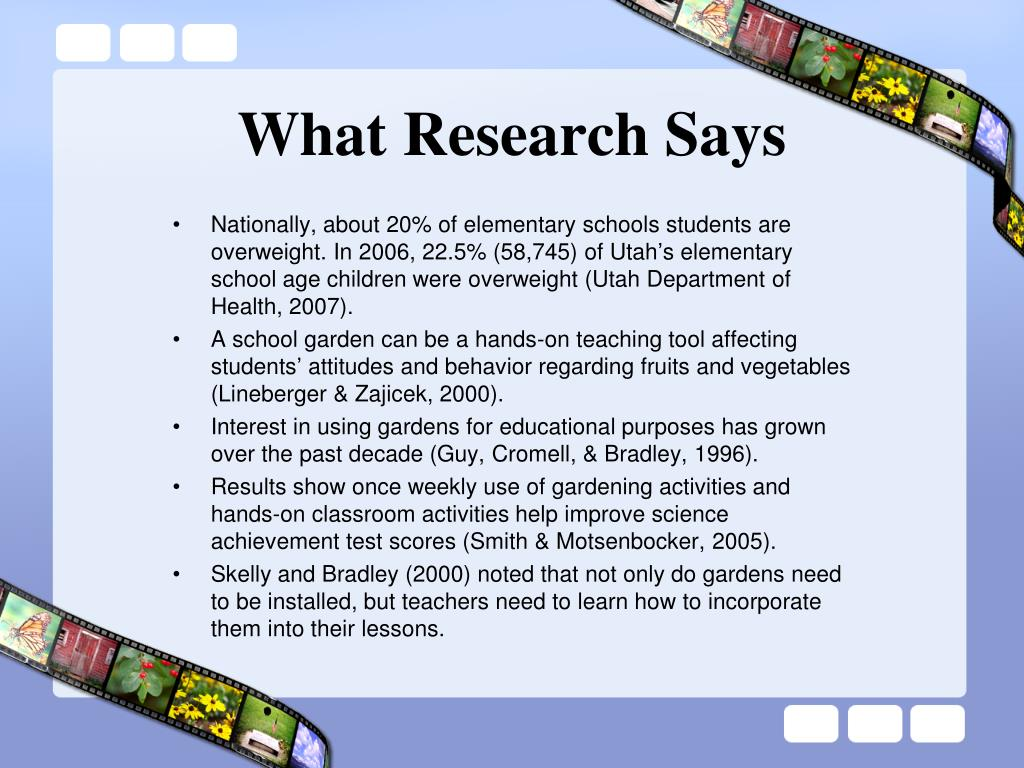 What Research Says